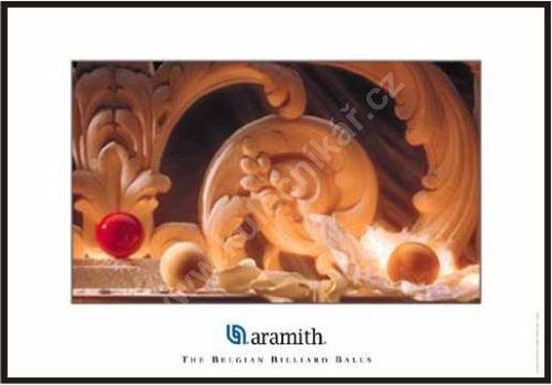 Billiard poster Aramith, Carom ball paradise