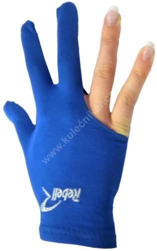 Kulečníková rukavice REBELL modrá (univerzální pro praváka i leváka)
