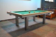 Kulečník SLIM pool biliard 7ft, Masiv/Kov - jídelní stůl