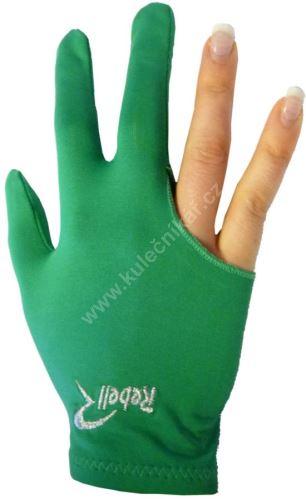 Kulečníková rukavice REBELL zelená (univerzální pro praváka i leváka)