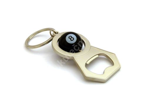 Přívěšek na klíče s otvírákem lahví koule č.8
