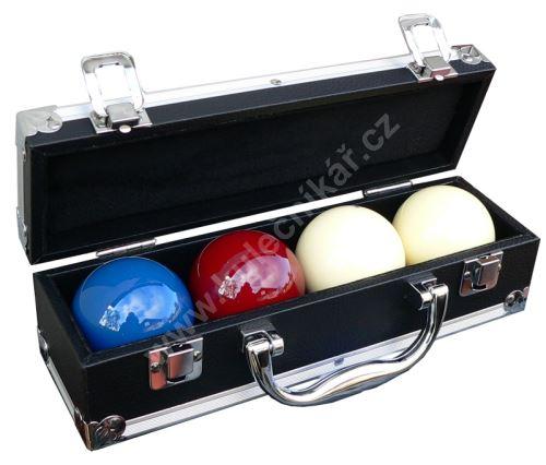 Kufřík na 4 karambolové koule průměr 61,5 mm karambol