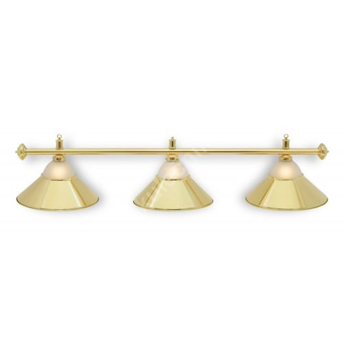 Kulečníková Lampa CLUB Gold, 3 širmy + sklo