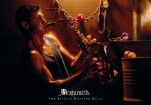 Kulečníkový plakát Aramith, Hráč na saxofon a pool