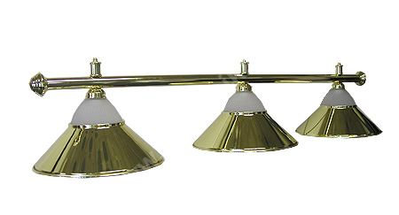Billiard lamp gold golden - Sirma 3 + glass