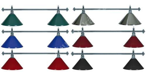 Billiard lamp Green Elegance 2, silver ramp, green Sirma