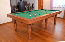 QUEEN Billiards Pool 9 feet, 3-piece slate, 6 feet