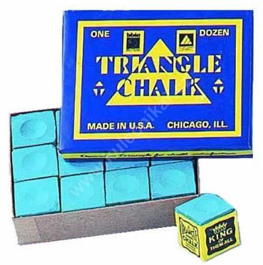 Chalk for billiard TRIANGLE - blue, 12 pcs