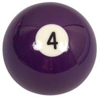 Náhradní koule pool standart jednotlivá č.4 - průměr 57,2mm