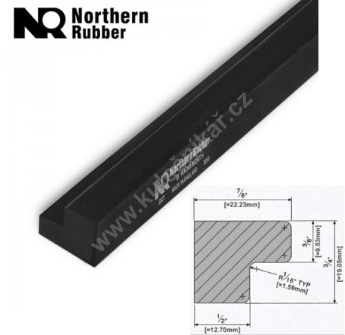 Gumové mantinely Northern Rubber L77, Snooker
