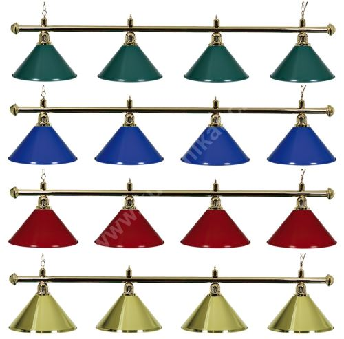 Gold Billiard Lamp Green Light 4, golden ramp, green Sirma