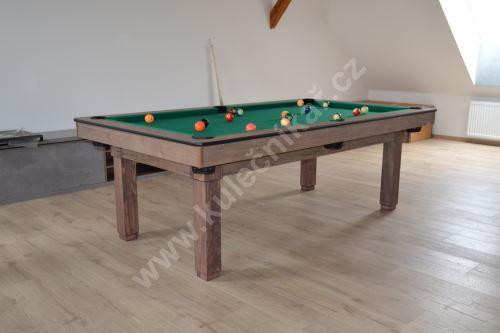 Amateur snooker pool billiards 8 feet, 3-piece slate, 4 feet